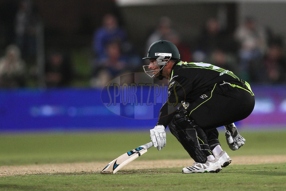 Mark Boucher of the Warriors looks for a second run during match 6 of the Airtel CLT20 between The Warriors and The Victorian Bushrangers held at St Georges Park in Port Elizabeth on the 13 September 2010..Photo by: Shaun Roy/SPORTZPICS/CLT20