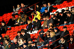 Bristol Bears fans watch the match from the stands- Mandatory by-line: Nizaam Jones/JMP - 19/01/2019 - RUGBY - Ashton Gate Stadium - Bristol, England - Bristol Bears v Enisei-STM - European Rugby Challenge Cup