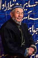 Ouzbekistan, region de Fergana, Marguilan, portrait d'homme ouzbek // Uzbekistan, Fergana region, Marguilan, Uzbek man