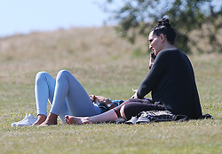 (EXCLUSIVE PICTURES) Strictly Come Dancing 2019 contestants, former footballer Alex Scott MBE and RuPaul's Drag Race legend Michelle Visage spend some time out of rehearsals at a park together in London. The pair spent a good few hours enjoying the sunshine chatting and laughing and sharing a few tips on dancing. Michelle looked eager to show Alex some of her moves as seen strutting her stuff in the park. This Saturday will be first live show and both will be performing their very first dance...  19/09/2019<br />