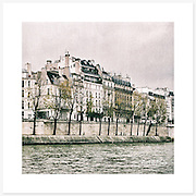 La Seine, Paris, France - Colour version. Inkjet pigment print on Canson Infinity Rag Photographique 310gsm 100% cotton museum grade Fine Art and photo paper.<br />