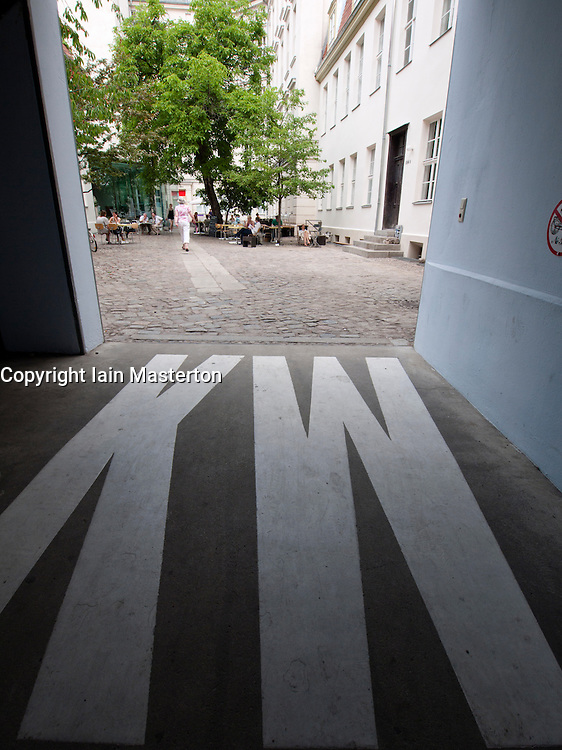 Entrance to courtyard of Kunst-Werk Institute for Contemporay Art in Berlin Germany
