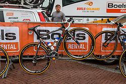 Liv bike of Lucinda Brand during the sign-on at the Holland Ladies Tour, Zeddam, Gelderland, The Netherlands, 1 September 2015.<br /> Photo: Pim Nijland / PelotonPhotos.com