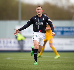 Falkirk's John Baird. <br /> Falkirk 1 v 0 Morton, Scottish Championship game  played 1/5/2016 at The Falkirk Stadium.