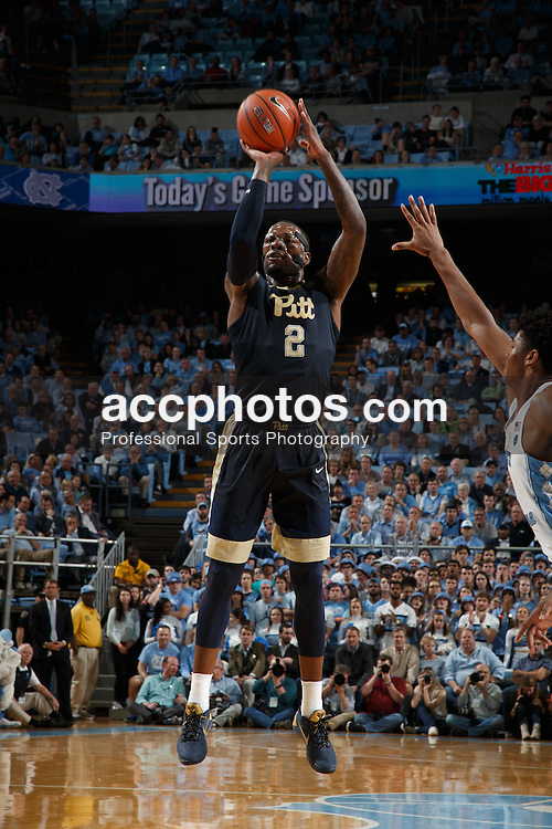 CHAPEL HILL, NC - JANUARY 31: Michael Young #2 of the Pittsburgh Panthers shoots the ball against the North Carolina Tar Heels on January 31, 2017 at the Dean Smith Center in Chapel Hill, North Carolina. North Carolina won 80-78. (Photo by Peyton Williams/UNC/Getty Images) *** Local Caption *** Michael Young