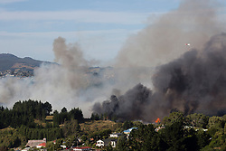 Residents have been evacuated as homes were threaten by a scrub fire in Burnside, Dunedin, New Zealand, Wednesday, January 31, 2018. Credit:SNPA / Adam Binns ** NO ARCHIVING**