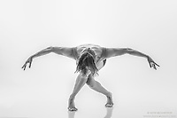 Black and white dance photography- Ground Eagle- Dance As Art Series with dancer Ashley Whitson