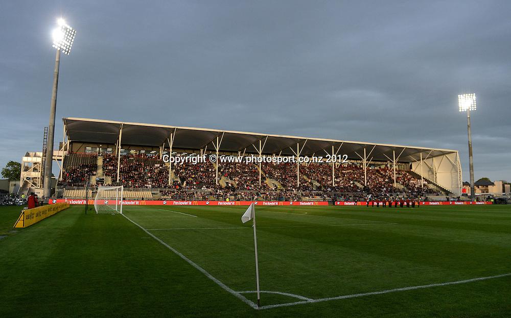 A general view of AMI Stadium. New Zealand All Whites v Tahiti. FIFA World Cup Qualifier Football match at AMI Stadium. Christchurch, New Zealand. Tuesday 16 October 2012. Photo: Andrew Cornaga/photosport.co.nz