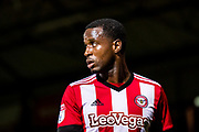 Brentford (7) Florian Jozefzoon  during the EFL Sky Bet Championship match between Brentford and Derby County at Griffin Park, London, England on 26 September 2017. Photo by Sebastian Frej.