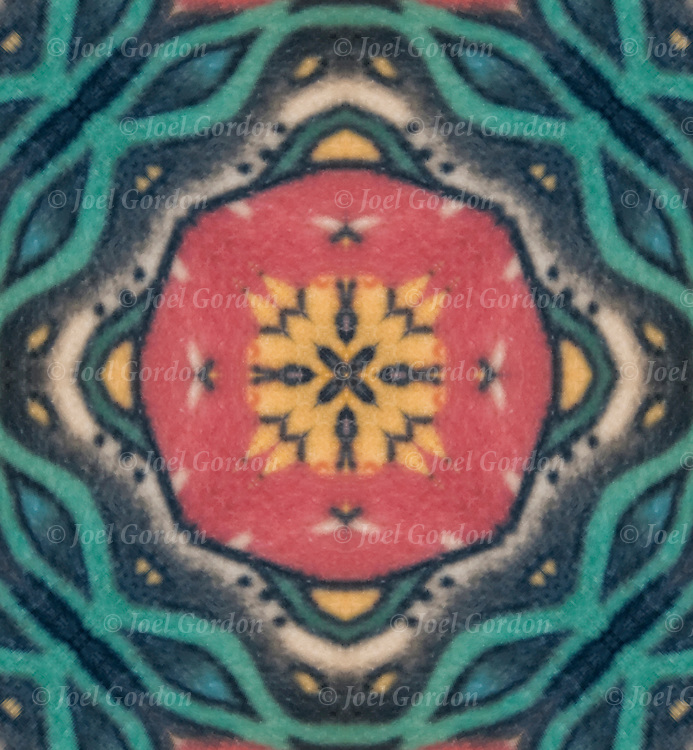 Photographic series of digital computer tattoo art, illusion / fantasy generated from a real tattoo. <br />