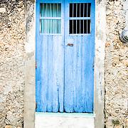 Blue door.Izamal, Yucatan..Mexico
