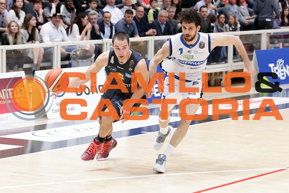 Aaron Craft<br /> Dolomiti Energia Aquila Basket Trento - Germani Basket Brescia Leonessa<br /> Lega Basket Serie A 2016/2017<br /> PalaTrento, 23/04/2017<br /> Foto Ciamillo-Castoria / M. Brondi