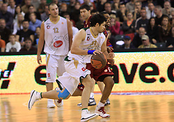 Saso Ozbolt (31) at basketball match of 3rd Round of Euroleague between KK Union Olimpija (SLO) and Lottomatica Roma (ITA), in Arena Tivoli, Ljubljana, Slovenia, on November 6, 2008. Lottomatica  won the match 78:67.