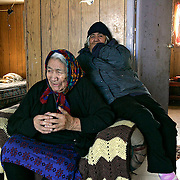 Elder Emelda Tomagatik at her children's home in Attawapiskat. Many older residents speak only Swampy Cree. <br /> <br /> (Ian Stewart photo)
