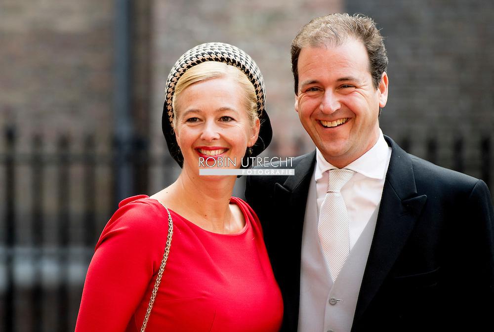 DEN HAAG - Lodewijk Asscher arriveert met partner bij de Ridderzaal op Prinsjesdag. ROBIN UTRECHT ROBIN UTRECHT