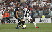 Blaise Matuidi (Juventus Turin) and Milan Badelj (Lazio Rome) during the Italian championship Serie A match between Juventus Turin and Lazio Roma at Allianz Stadium in Turin, Italy, on August 25, 2018 - Picture by Laurent Lairys / ProSportsImages / DPPI