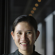 Portrait of a reception clerk at the Nam Hai luxury resort in Danang, Vietnam.