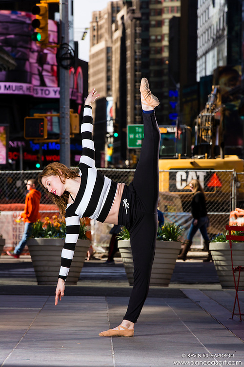 Times Square Dance As Art- The New York Photography Project with dancer Ashely Whitson