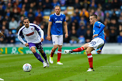 Adam May of Portsmouth passes the ball under pressure - Mandatory by-line: Jason Brown/JMP - 03/09/2017 - FOOTBALL - Fratton Park - Portsmouth, England - Portsmouth v Rotherham United - Sky Bet League Two