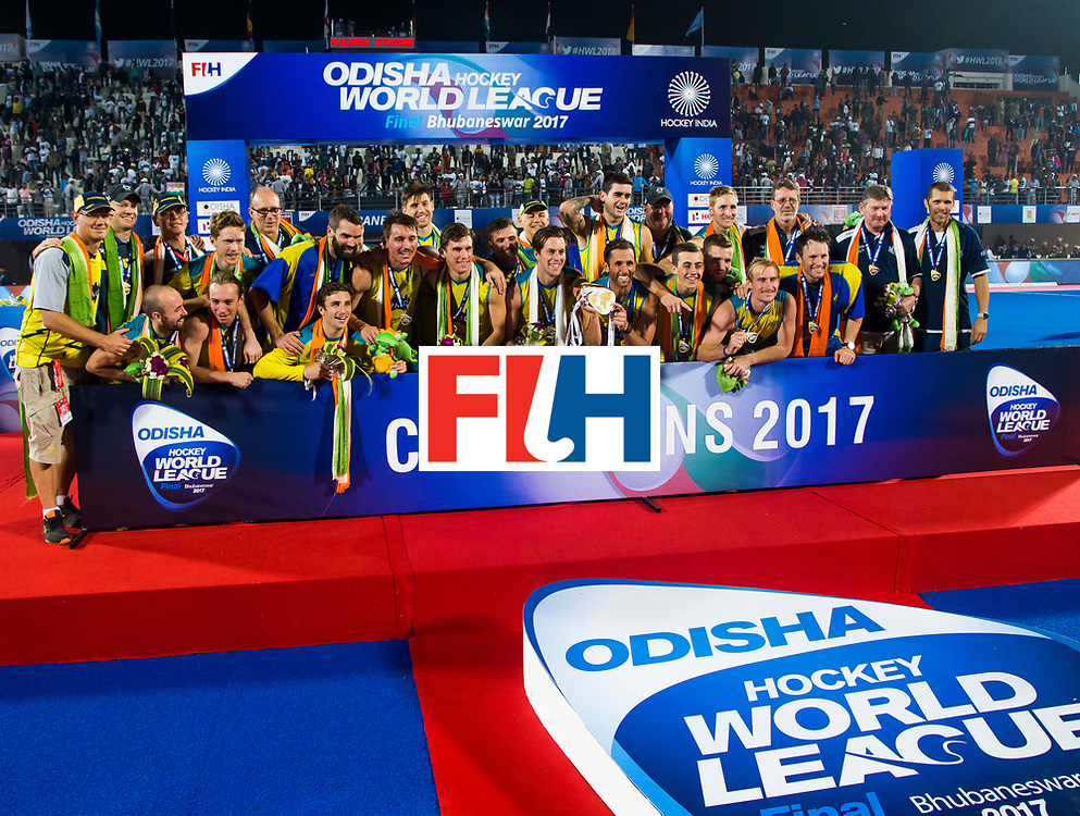 BHUBANESWAR - Australia wins HWL .  Hockey World League finals , Final Australia-Argentina (2-1) . Australia wint de finale. COPYRIGHT KOEN SUYK