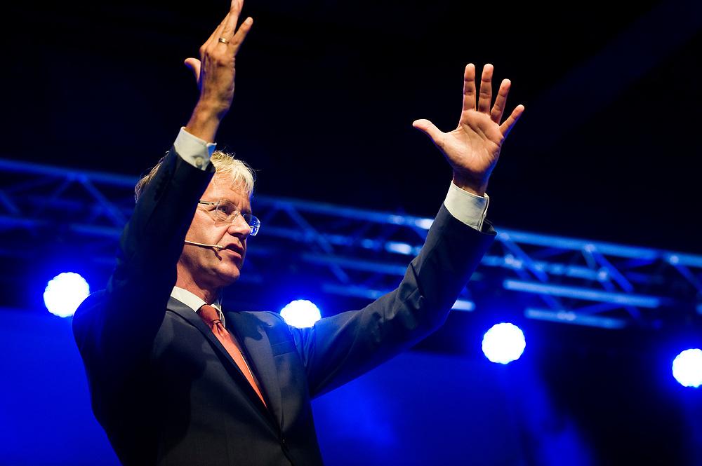 Netherlands, Ede, 21 mei 2014<br /> Partijcongres Christenunie, met speech Arie Slob.<br /> Foto: (c)Michiel Wijnbergh