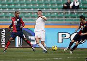 Bari (BA), 13-02-2011 ITALY - Italian Soccer Championship Day 25 - Bari VS Genoa..Pictured: Kanko (GE) Ghezzal (BA) Mesto (GE).Photo by Giovanni Marino/OTNPhotos . Obligatory Credit