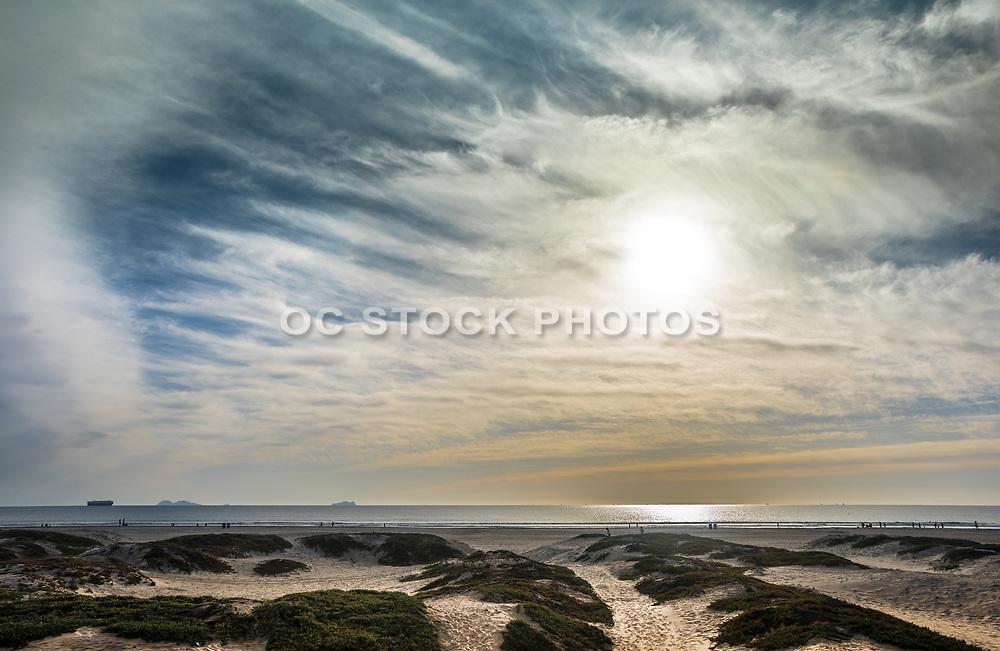 Hazy Sky Over Coronado Island San Dunes In San Diego