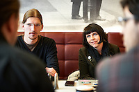 Members of the german Piraten Partei   meeting with Birgitta Jónsdóttir at Café Hressó Reykjavík.