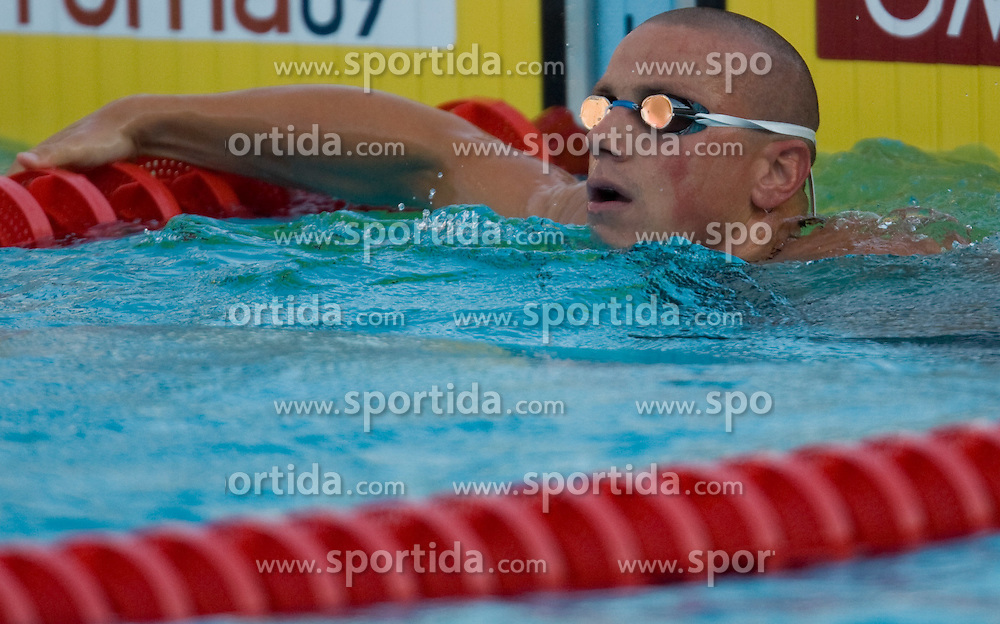 Emil Tahirovic of Slovenia competes during the Men's 50m Breaststroke Semi-Final during the 13th FINA World Championships Roma 2009, on July 28, 2009, at the Stadio del Nuoto,  in Foro Italico, Rome, Italy. (Photo by Vid Ponikvar / Sportida)