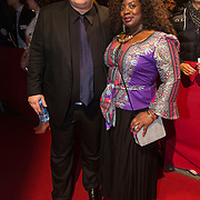 NLD/Amsterdam/20140307 - Boekenbal 2014, Robert Vuijsje en partner Lynn Spier
