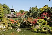 Japan, Kyoto, Ninna-ji Shinden, Japanese garden