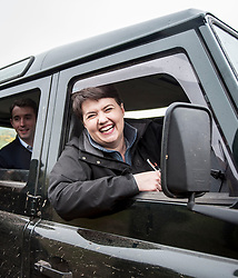 Scottish tory leader Ruth Davidson trys out her driving skills at Perthshire Off Road in Milnathort.<br /> <br /> © Dave Johnston/ EEm