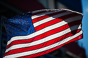 April 22-24, 2016: NHRA 4 Wide Nationals: American flag waves