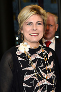 Prinses Laurentien leest voor aan kinderen van groep 1 en 2, uit het kinderboek De kleine walvis, tijdens het Nationale Voorleesontbijt in de nieuwe bibliotheek in Almere-Stad<br /> <br /> Princess Laurentien reads to children of group 1 and 2, from the children's book The Little Whale, during National Reading Breakfast at the new library in Almere-Stad<br /> <br /> Op de foto / On the photo:  Aankomst Prinses Laurentien / Arrival Princess Laurentien