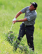Phil Mickelson hits out of the rough on his second shot on No. 17 during the second round of the Shell Houston Open, Friday, April 3, 2015, at the Golf Club of Houston in Humble, TX. (Photo: Eric Christian Smith/For the Chronicle)