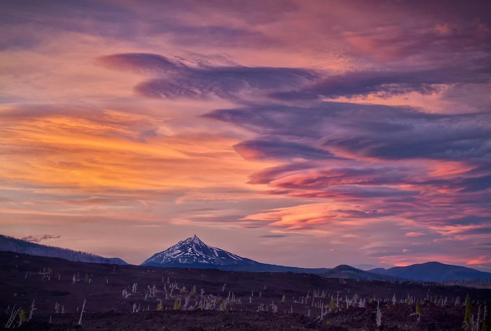 Lenticular clouds (Altocumulus lenticularis), McKenzie Pass-Santiam Pass Scenic Byway