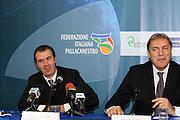 DESCRIZIONE : Roma Palazzo delle Federazioni in Via Vitorchiano La conferenza stampa di presentazione del nuovo allenatore della Nazionale Italiana maschile Simone Pianigiani<br /> GIOCATORE : Simone Pianigiani Dino Meneghin<br /> SQUADRA : Italia Nazionale Italiana<br /> EVENTO : Conferenza stampa di presentazione del nuovo allenatore della Nazionale Maschile Simone Pianigiani<br /> GARA : <br /> DATA : 22/12/2009<br /> CATEGORIA : ritratto <br /> SPORT : Pallacanestro<br /> AUTORE : Agenzia Ciamillo-Castoria/GiulioCiamillo<br /> Galleria : Fip Nazionali 2009<br /> Fotonotizia : Roma Palazzo delle Federazioni in Via Vitorchiano La conferenza stampa di presentazione del nuovo allenatore della Nazionale Italiana maschile Simone Pianigiani<br /> Predefinita :