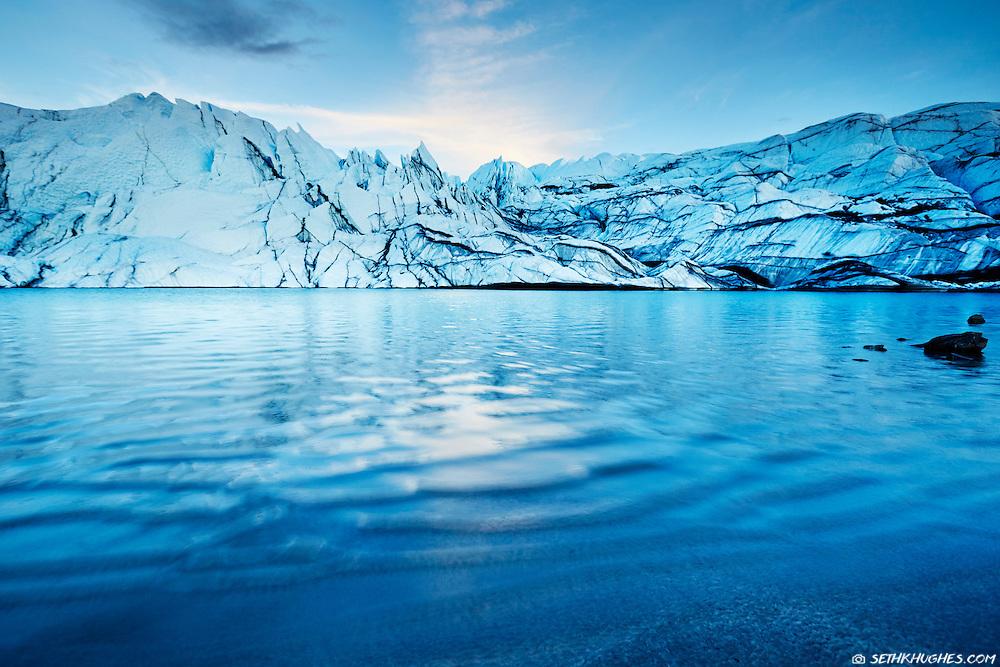 Matanuska Glacier near the Glenn Highway in Alaska.