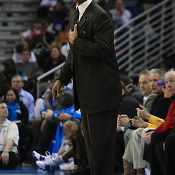 04 February 2009: New Orleans Hornets coach Byron Scott watches his team from the bench during a 93-107 loss by the New Orleans Hornets to the Chicago Bulls at the New Orleans Arena in New Orleans, LA.