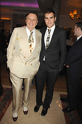 Left to right, BARRY HUMPHRIES and his son OSCAR HUMPHRIES at a party to celebrate the 180th Anniversary of The Spectator magazine, held at the Hyatt Regency London - The Churchill, 30 Portman Square, London on 7th May 2008.<br />