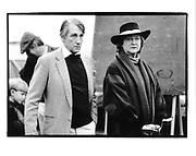 Duke and Duchess of Beaufort. Badminton. 1985 approx.© Copyright Photograph by Dafydd Jones 66 Stockwell Park Rd. London SW9 0DA Tel 020 7733 0108 www.dafjones.com