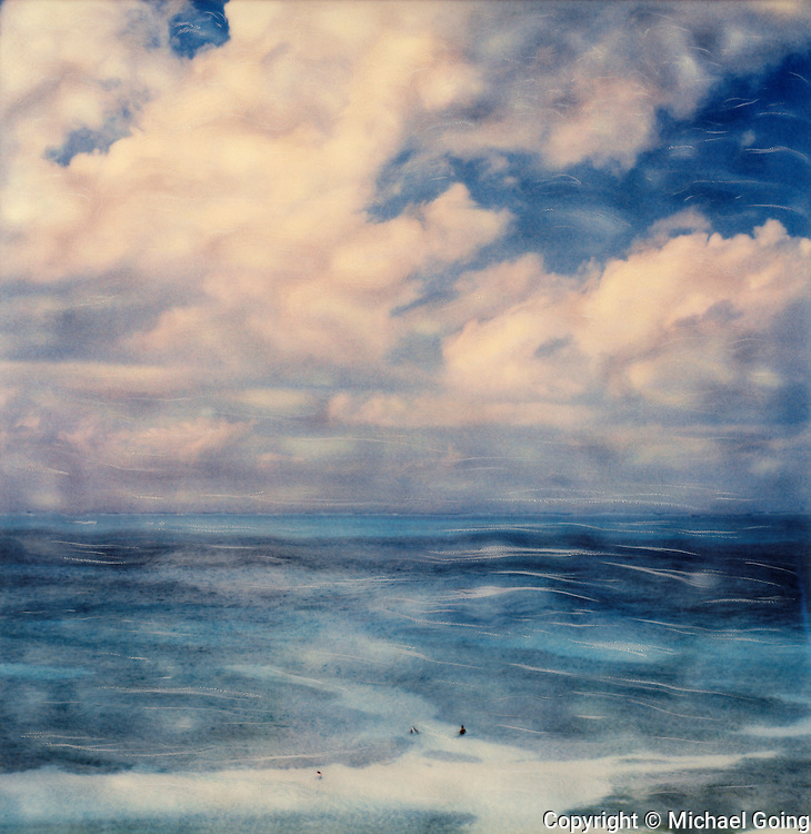 Abstract of ocean and clouds in Cancun