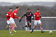 Tyler Roberts of Leeds United Under 23's on the attack during the U23 Professional Development League match between Barnsley and Leeds United at Oakwell, Barnsley, England on 9 March 2020.