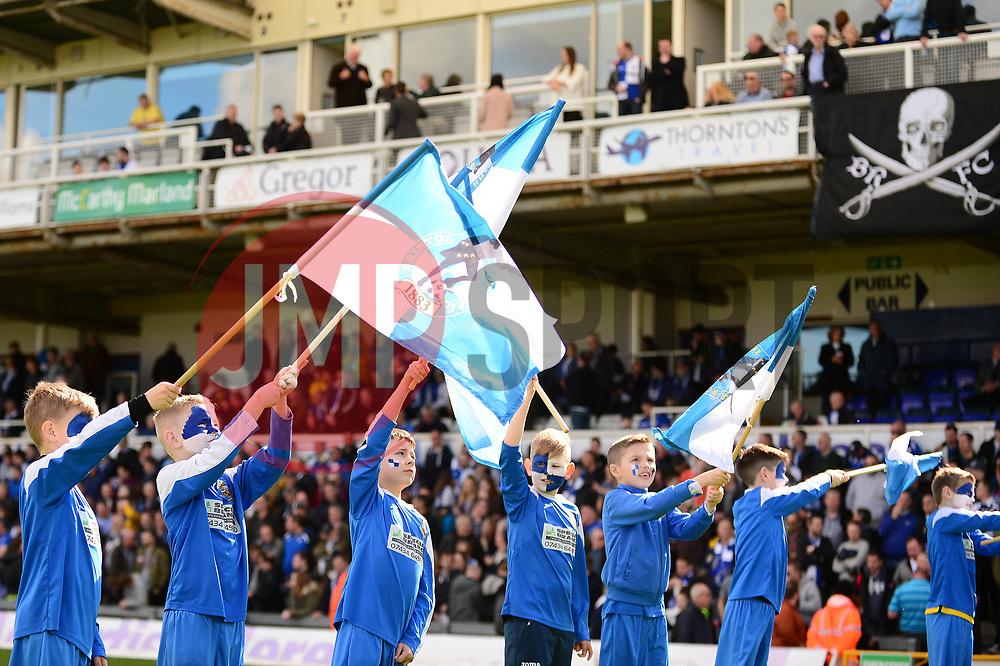 Flag bearers, guard of honour  - Mandatory by-line: Dougie Allward/JMP - 01/04/2017 - FOOTBALL - Memorial Stadium - Bristol, England - Bristol Rovers v Northampton Town - Sky Bet League One