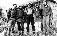 Fotos de Archivo de la Comandancia General del Frente Farabundo Marti (FMLN) durante los anos de la guerra civil.  Francisco Jovel, Jorge Schafik Handal, Salvador Guerra y Eduardo Sancho. Photo: Imagenes Libres.