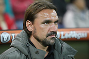 Norwich City manager Daniel Farke during the EFL Sky Bet Championship match between Norwich City and Burton Albion at Carrow Road, Norwich, England on 12 September 2017. Photo by John Potts.