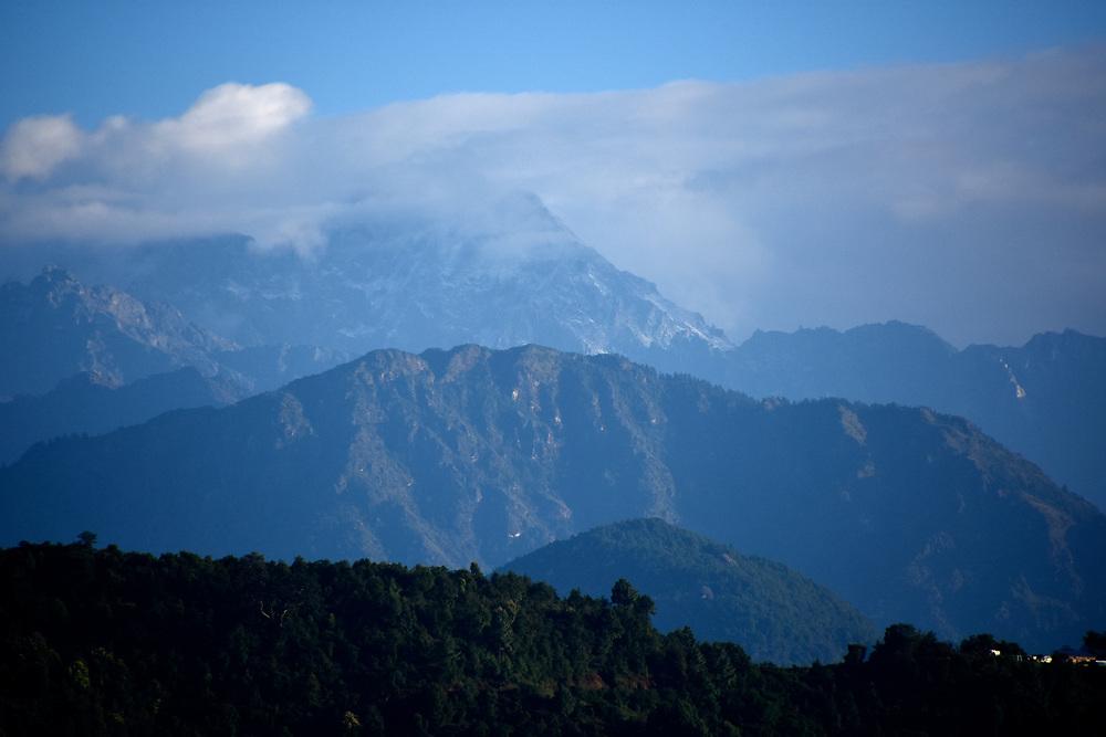 Mountain view of Haibung, Sindhupalchowk, Nepal