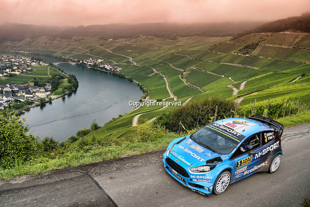 19.08.2016. Mosel, Germany. WRC ADAC rally of Germany, SS3 and SS4.  Mads Ostberg ( NOR ) and Ola Floene ( NOR ) - Ford Fiesta