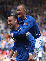 Rangers v St Mirren<br /> Scottish Cup Semi Final<br /> Hampden Park<br /> Glasgow<br /> 25th April 2009<br /> <br /> Kris Boyd goal celebrations, Rangers second on the day and his 100th for the club, the first player to do so since Mark Hatley.<br /> <br /> Ian MacNicol - Colorsport<br /> <br /> Email: info@colorsport.co.uk<br /> Telephone: 01306 712233<br /> Fax: 01306 712260<br /> <br /> Address<br /> The Old Sawmill<br /> Rusper Road<br /> CAPEL<br /> Surrey<br /> RH5 5HF<br /> <br /> Registration: registration@colorsport.co.uk<br /> Sales: sales@colorsport.co.uk<br /> Enquiries: ask@colorsport.co.uk