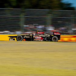 F1 Australian Grand Prix 15 March 2013 Practice Session 2.Practice Session 2. Roman Grosjean Lotus turn 7.(c) MILOS LEKOVIC | StockPix.eu